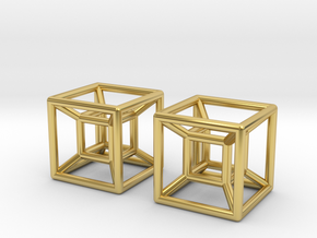 Two Hypercubes in Polished Brass