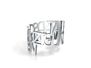 Ring Poemd1 in White Natural Versatile Plastic