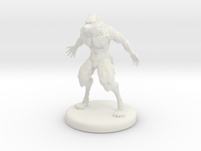 Werewolf in White Natural Versatile Plastic