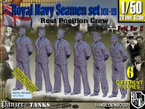 1/50 RN Seamen Rest Set101-15 in Smooth Fine Detail Plastic