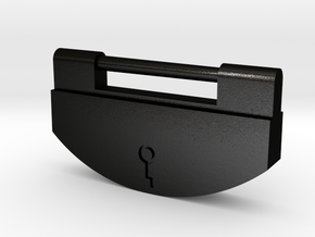 Japanese Ancient Padlock Type3 in Matte Black Steel