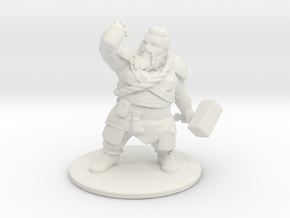 Dwarf in White Natural Versatile Plastic