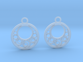 Geometrical earrings no.6 in Smooth Fine Detail Plastic: Small
