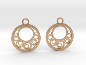 Geometrical earrings no.6 in Natural Bronze: Small