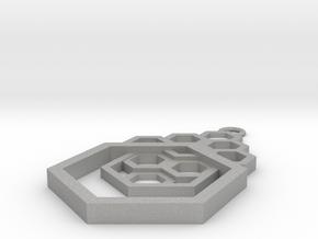 Geometrical pendant no.4 in Aluminum: Small