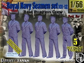 1/56 RN Seamen Rest Set101-12 in Smooth Fine Detail Plastic