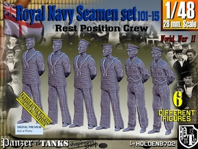 1/48 RN Seamen Rest Set101-15 in Smooth Fine Detail Plastic