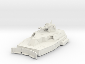 Heavy Hover Tank - Autocannons in White Natural Versatile Plastic
