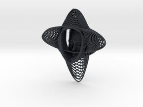 Wire Curve Art + Nefertiti (001d) in Black Professional Plastic