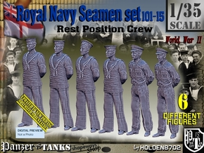 1-35 RN Seamen Rest Set101-15 in Smooth Fine Detail Plastic