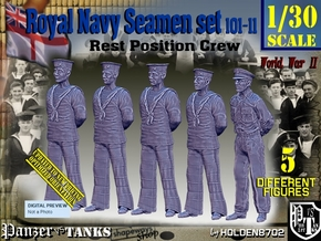 1/30 RN Seamen Rest Set101-11 in White Natural Versatile Plastic