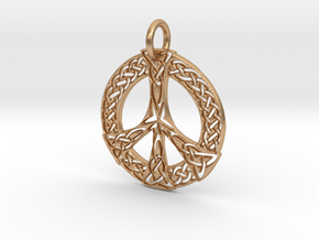 Celtic Peace Pendant in Natural Bronze: Extra Small