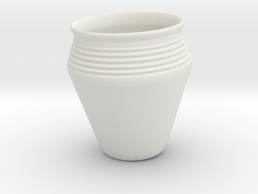 Vase-600AD in White Natural Versatile Plastic