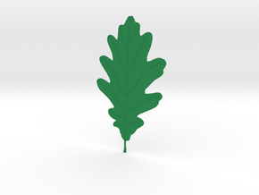Oak tree leaf in Green Processed Versatile Plastic