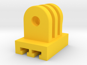 GoPro Cam to Contour Mount Adapter (Side Tilting) in Yellow Processed Versatile Plastic