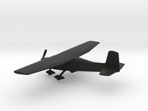Cessna 150C in Black Natural Versatile Plastic: 1:100