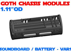 GCM111 - Soundboard Lightsaber Chassis Var1 in White Natural Versatile Plastic