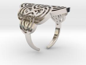 Art deco ark ring in Rhodium Plated Brass