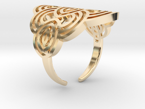 Art deco ark ring in 14k Gold Plated Brass