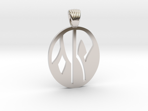 Flower yin yang [pendant] in Platinum