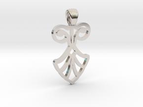Art Deco Flower [pendant] in Platinum