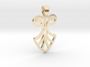 Art Deco Flower [pendant] in 14K Yellow Gold