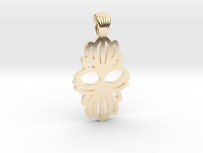 Art Deco double flower [pendant] in 14k Gold Plated Brass