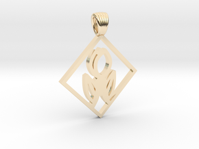 Art Deco Squared tulip [pendant] in 14K Yellow Gold