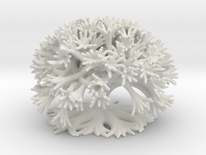 Curly Tree: 10 Divisions in White Natural Versatile Plastic