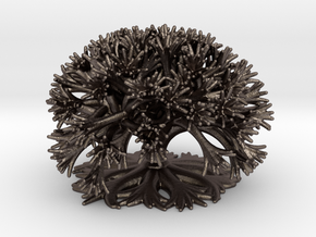 Curly Tree: 10 Divisions in Polished Bronzed-Silver Steel