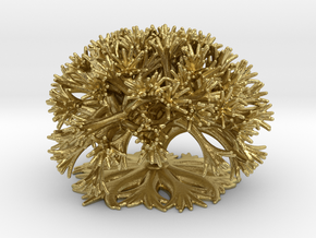 Curly Tree: 10 Divisions in Natural Brass