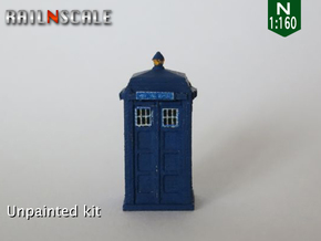 TARDIS / Police box Mk2 (N 1:160) in Smooth Fine Detail Plastic