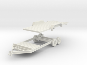 Tilt Utility Trailer 1-32 Scale in White Natural Versatile Plastic