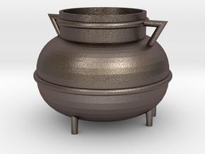 Kessel, Cauldron (115x115x90mm) in Polished Bronzed-Silver Steel