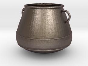 Kessel, Cauldron (124x124x103mm) in Polished Bronzed-Silver Steel