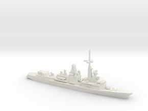 Cassard-class frigate, 1/2400 in White Natural Versatile Plastic