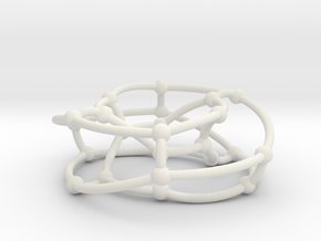Nauru graph on torus in White Natural Versatile Plastic