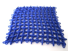 Double Eight Fabric v2 in Blue Strong & Flexible Polished
