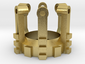 Part 02 C (crystal holder) in Natural Brass