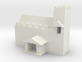 Medieval church in White Natural Versatile Plastic