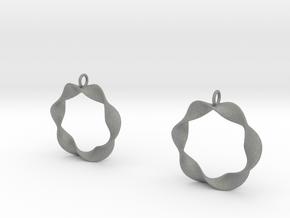 Mobius Earrings in Gray Professional Plastic