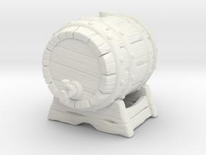Big Keg A in White Natural Versatile Plastic