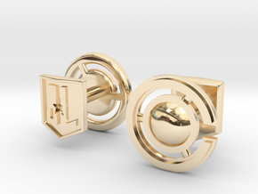 Cyborg cufflinks in 14K Yellow Gold