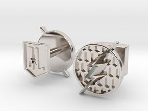 Flash cufflinks in Rhodium Plated Brass