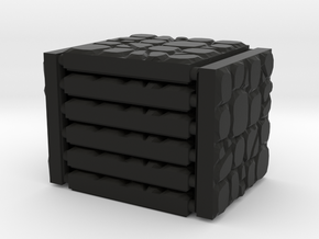 3 x 3 Gravel Rocks Set in Black Natural Versatile Plastic
