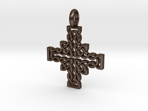 Celtic Knot / Cross Contour in Polished Bronze Steel