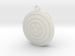 Captain America Shield MagicBand fob Keychain in White Natural Versatile Plastic
