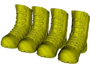 1/18 scale military boot C pairs x 2 in Smooth Fine Detail Plastic