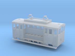 HO Scale Historic Wellington Cable Car  in Smooth Fine Detail Plastic