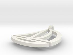 Boat earrings in White Natural Versatile Plastic